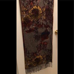 Fraas cashmink oversized scarf with fringe
